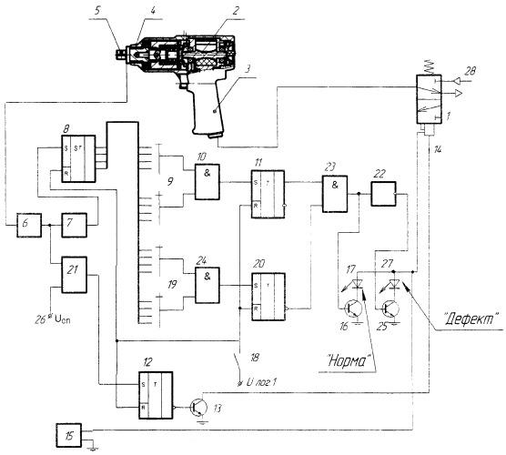 Способ контроля качества затяжки при сборке резьбовых соединений ударным гайковертом и устройство для его осуществления