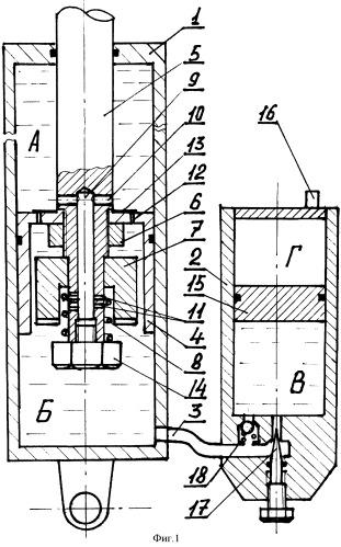 Гидропневматический амортизатор транспортного средства