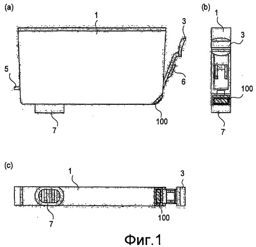 Контейнер для жидкости, система подачи жидкости и монтажная плата для контейнера для жидкости