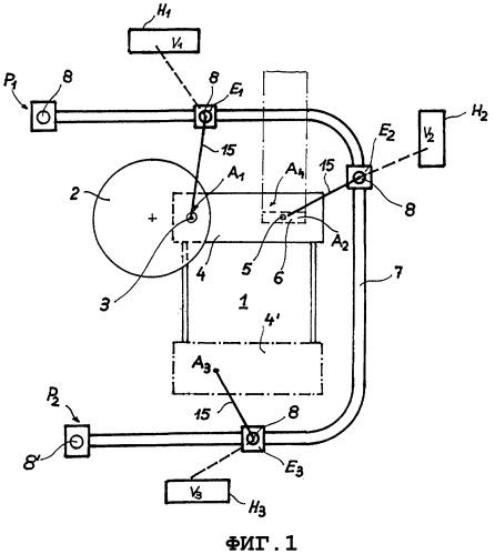 Установка непрерывной разливки с, по меньшей мере, одним роботом и способ функционирования установки непрерывной разливки с использованием, по меньшей мере, одного робота