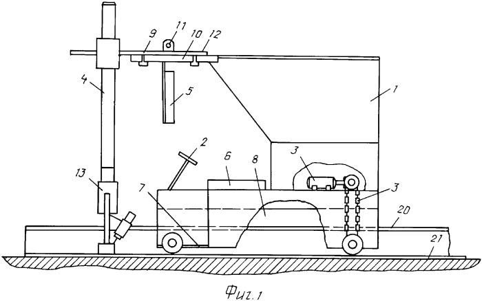 Электромашина для сборки плоских секций корпуса корабля