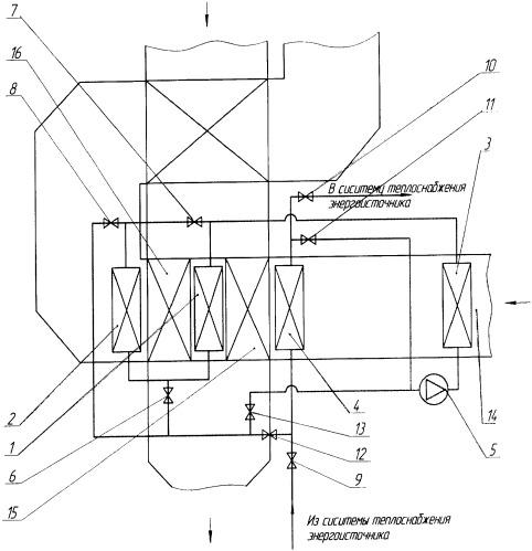Способ увеличения тепловой мощности рекуперативного многоходового воздухоподогревателя и устройство для его осуществления