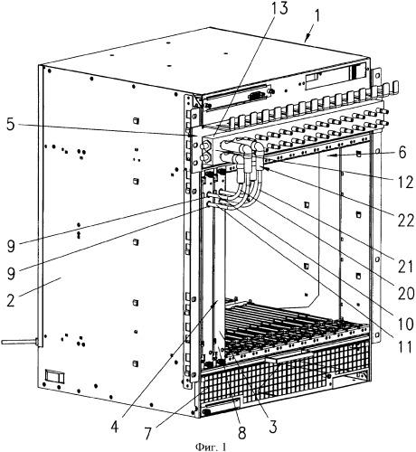Базовая несущая конструкция с корпусом для размещения вставных блоков
