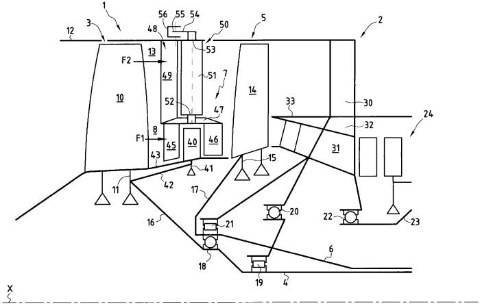 Трехкаскадный двухконтурный турбореактивный двигатель с высокой степенью двухконтурности