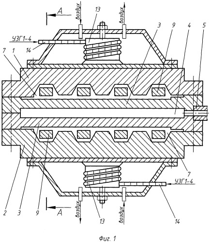 Двухканальная экструзионная головка для изготовления полимерных облицовочных стеновых панелей с применением ультразвуковых колебаний