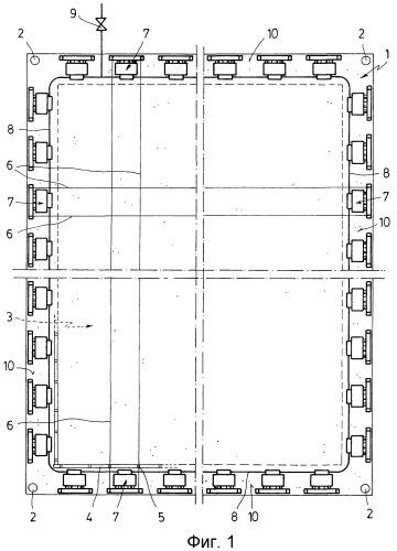 Натяжная установка для каркасов предварительно натягиваемых архитектурных элементов