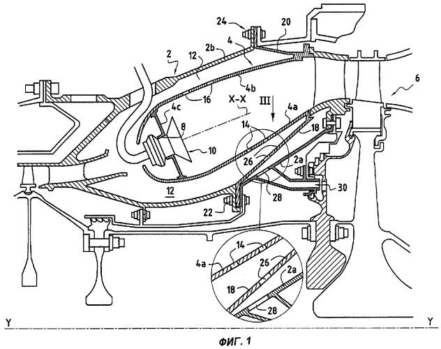 Кольцевая камера сгорания для турбомашины с улучшенным внутренним крепежным фланцем