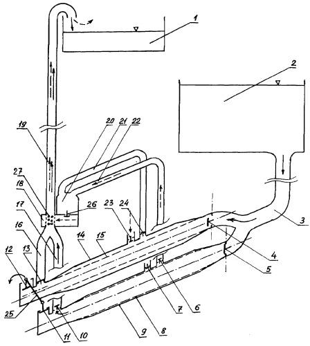 Гидравлический таран-эрлифт