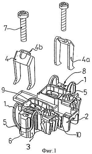 Зажимы для крепления анкерных захватов вложимых электрических устройств