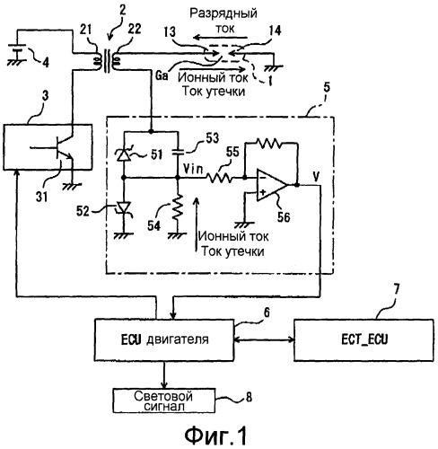 Устройство зажигания двигателя внутреннего сгорания