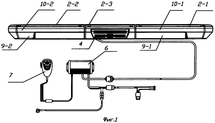 Светодиодное устройство предупредительной сигнализации и способ формирования его светового сигнала (варианты)