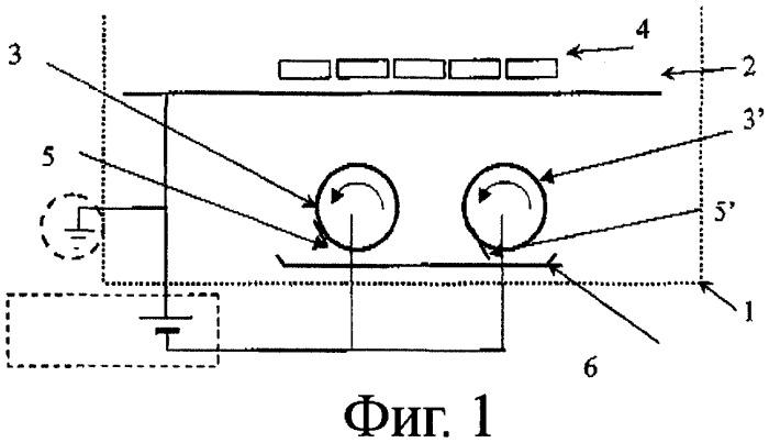 Способ и установка для травления в вакууме при помощи магнетронного распыления металлической полосы