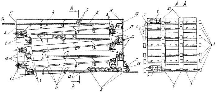 Гравитационный накопитель для цилиндрической тары