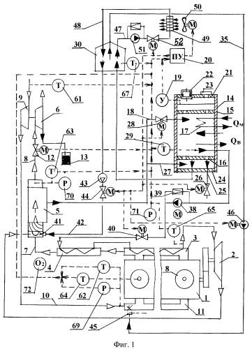 Способ работы комбинированного двигателя и его устройство с двухфазным рабочим телом