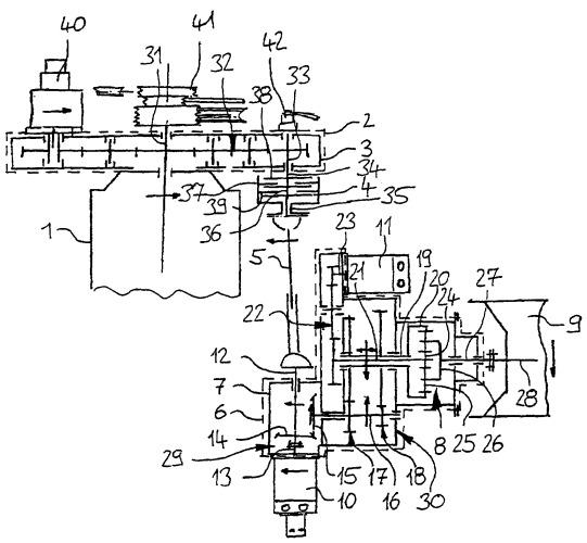 Устройство привода для агрегата сельскохозяйственной установки или сельскохозяйственной машины