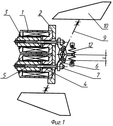 Рулевой привод управляемого снаряда