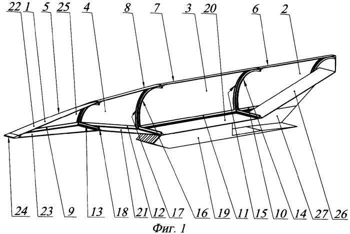 Аэродинамическая модель летательного аппарата с интегрированным воздушно-реактивным двигателем