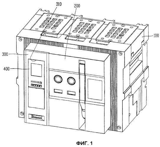 Воздушный выключатель с простой съемной конструкцией для реле максимального тока
