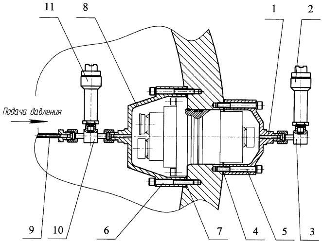 Способ испытания на герметичность проходных гермоэлементов в сосудах и устройство для его осуществления
