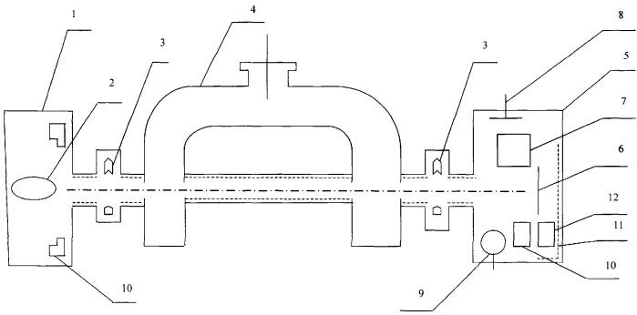 Атомно-лучевая трубка на пучках атомов цезия или рубидия