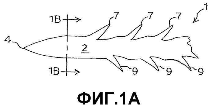 Конфигурации заусениц для шовных нитей с заусеницами