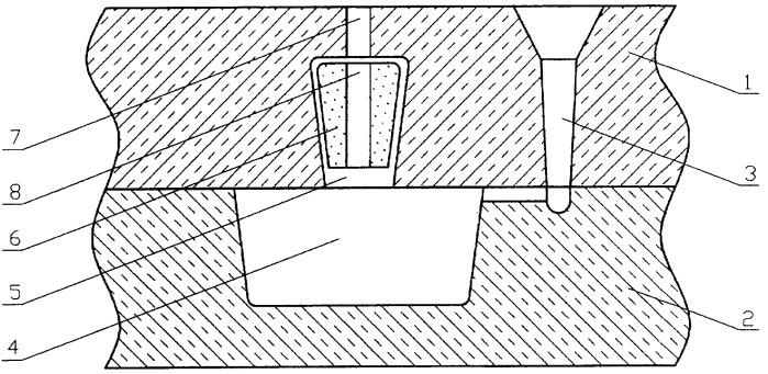 Литейная форма с термитной прибылью