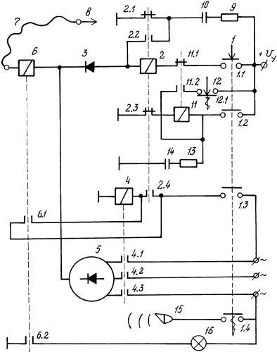 Электрическая схема для подачи