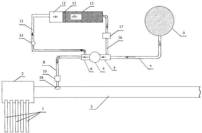 Устройство для транспортировки газа и газоконденсата в системе скважина - газопровод (шлейф)
