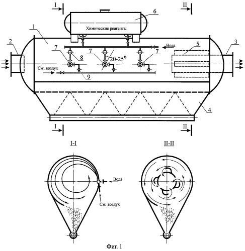 Устройство для пылегазозолоулавливания из дымовых и агрессивных газов