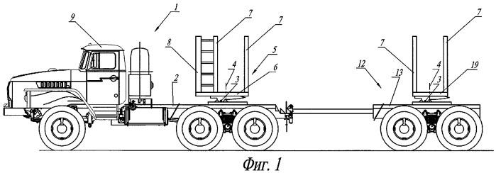 Передняя опора транспортного средства для перевозки длинномерных грузов