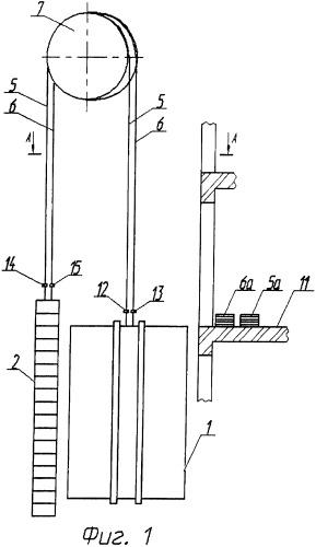 Способ замены тягового каната кабины лифта в шахте