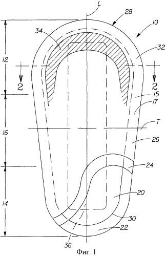 Впитывающая прокладка с индикатором улучшенных характеристик