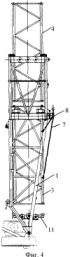 Способ подращивания башни башенного крана
