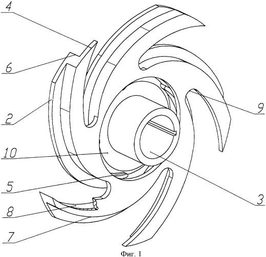 Рабочее колесо ступени погружного центробежного насоса