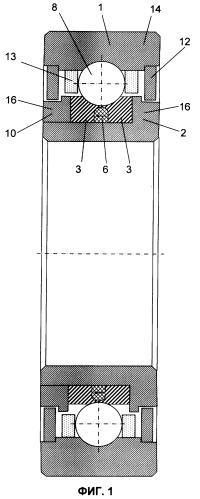 Опора вращения с магнитной разгрузкой тел качения от действия цетробежных сил