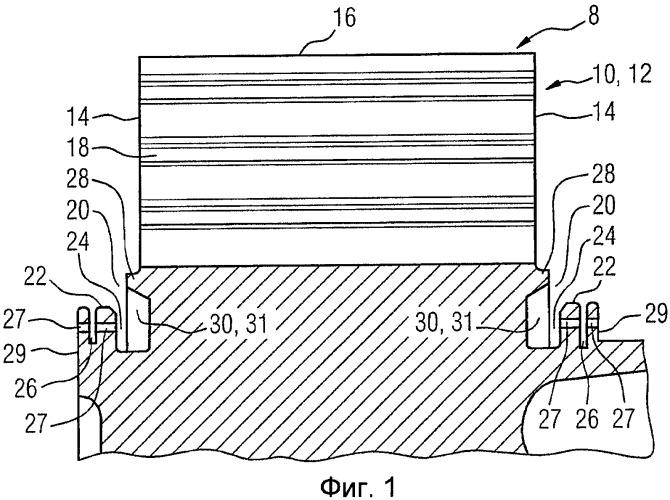 Осевая секция ротора турбины