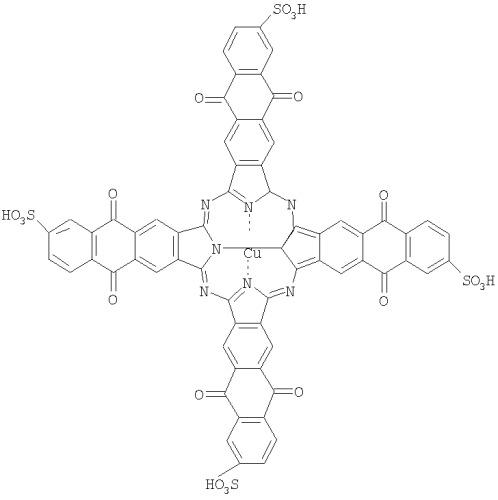 Тетра-[(10-сульфо)бензо[ ]]антрахинонопорфиразин меди