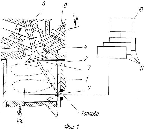 Четырехтактный бензиновый двигатель внутреннего сгорания с электронной системой управления впрыском топлива