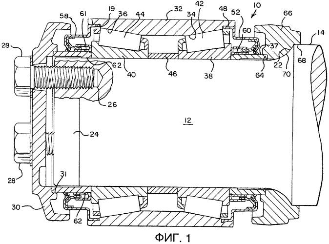 Уплотнение для цапфы подшипника железнодорожного вагона