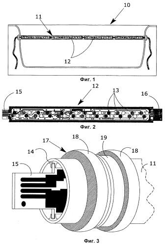 Световая система для ванн, предназначенных для оздоровительных процедур с применением релаксационных методов