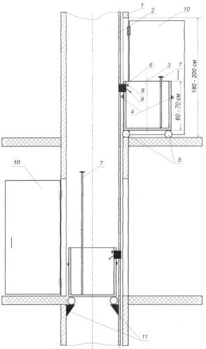 Устройство аварийного спасения в многоэтажных зданиях