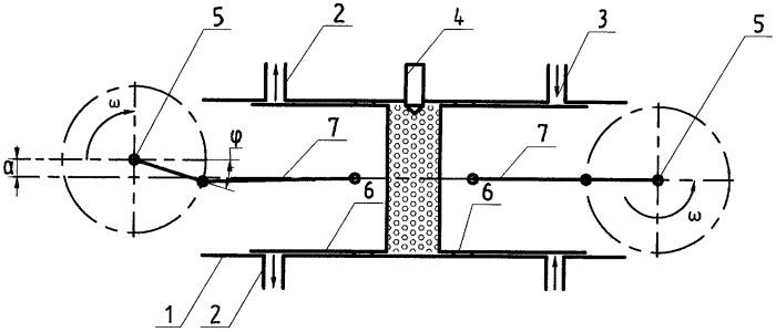 Поршневой двухвальный двигатель внутреннего сгорания с противоположно движущимися поршнями и способ его работы