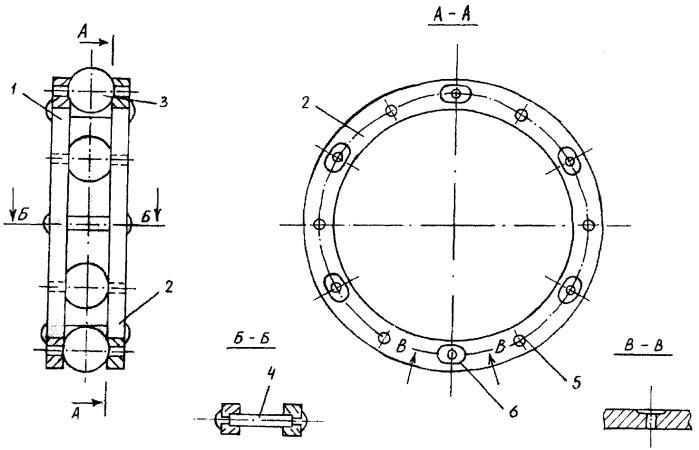 Массивный разъемный сепаратор шарикового подшипника