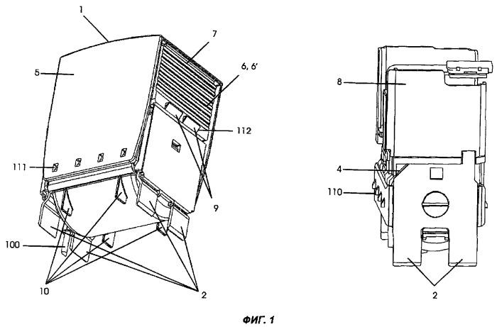 Устройство со сменными модулями для защиты от перенапряжений