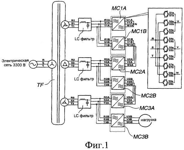 Высоковольтный прямой силовой преобразователь переменного тока
