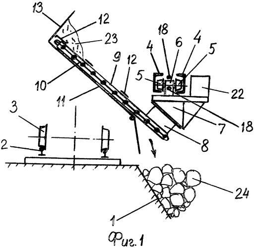 Комплекс для зачистки кузовов думпкаров при их разгрузке