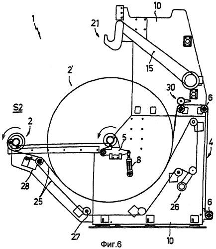 Устройство и способ смены рулонов в разматывателе