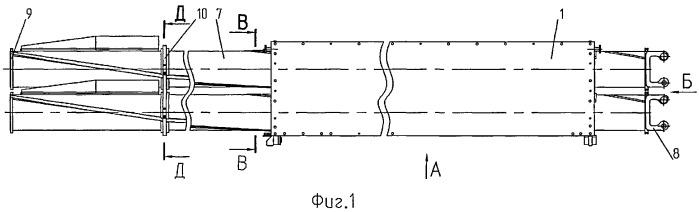 Транспортно-пусковой контейнер многоствольной пусковой установки