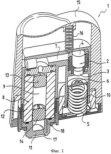 Безыгольный инъектор, работающий с двумя концентрически расположенными энергетическими материалами