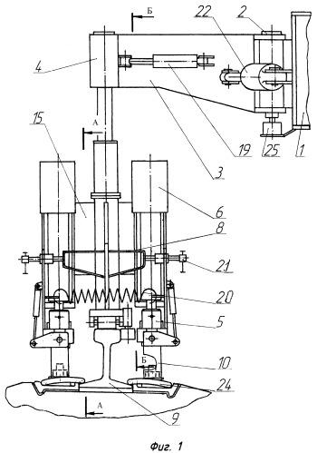 Устройство для завинчивания и отвинчивания гаек скреплений рельсошпальной решетки